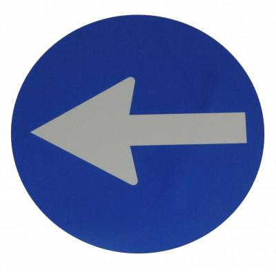 Cartello in plastica Freccia direzionale